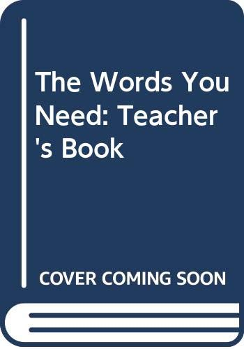 9780333281505: The Words You Need: Teacher's Book