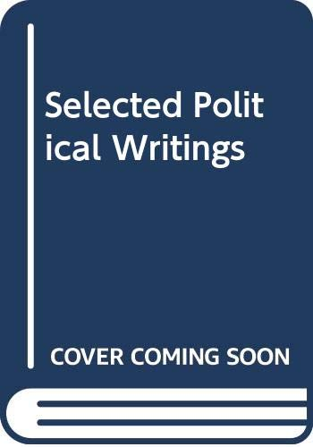 9780333283820: Selected Political Writings