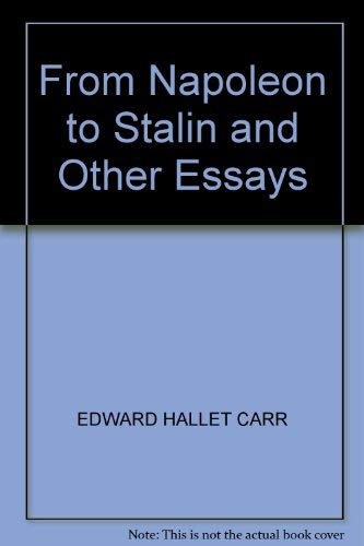 9780333289419: From Napoleon to Stalin and Other Essays
