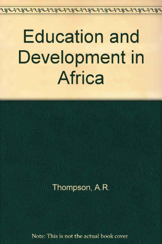 9780333300183: Education and Development in Africa