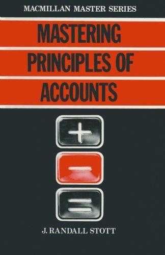 9780333304464: Mastering Principles of Accounts (Macmillan Master)