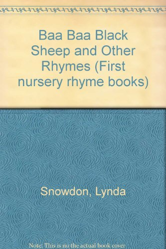 9780333304822: Baa Baa Black Sheep and Other Rhymes (First nursery rhyme books)