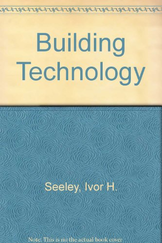 9780333307175: Building Technology