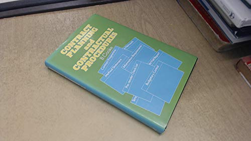 9780333307205: Contract Planning and Contractual Procedures (Building & Surveying)