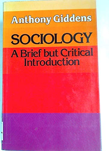 9780333309292: Sociology: A Brief But Critical Introduction