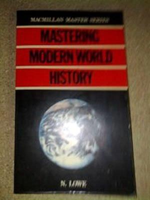 9780333310694: Mastering Modern World History (Macmillan Master Guides)