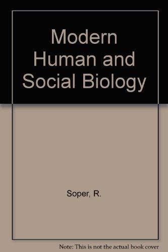 9780333316535: Modern Human and Social Biology