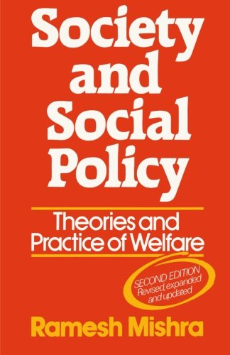 9780333320150: Society and Social Policy: Theories and Practice of Welfare