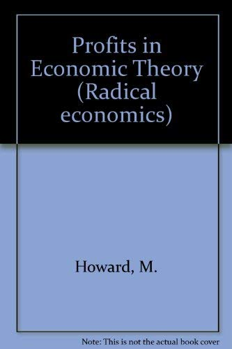 9780333321652: Profits in Economic Theory