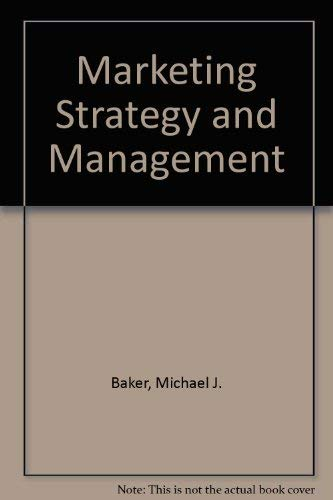 9780333323076: Marketing Strategy and Management