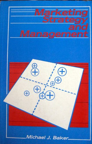 9780333323083: Marketing Strategy and Management