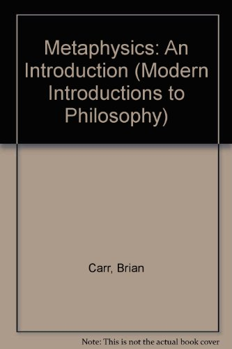 9780333323977: Metaphysics: An Introduction. First Edition.
