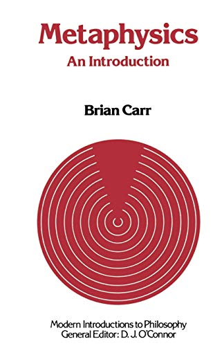 9780333323991: Metaphysics: An Introduction (Modern Introductions to Philosophy)