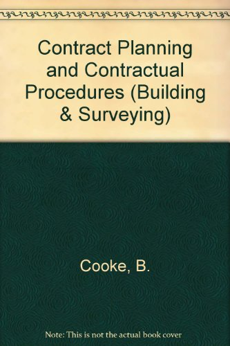 9780333326961: Contract Planning and Contractual Procedures (Building & Surveying)