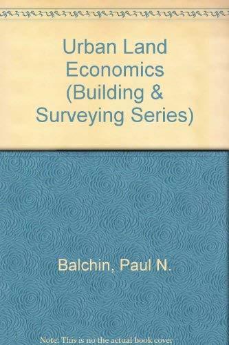 9780333327746: Urban Land Economics (Building & Surveying)