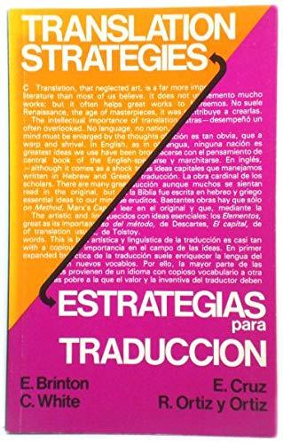 9780333328934: Translation Strategies