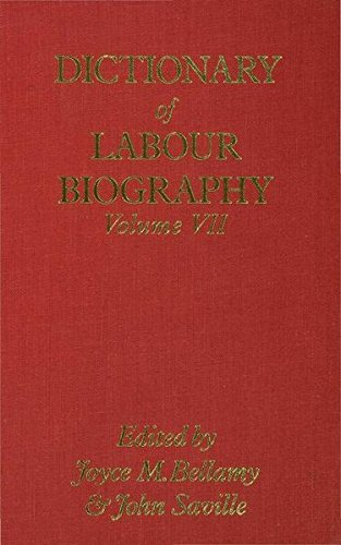 9780333331811: Dictionary of Labour Biography: Volume VII