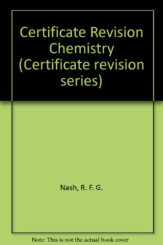 9780333340035: Certificate Revision Chemistry (Certificate revision series)