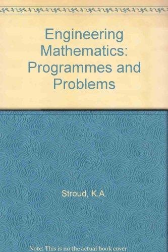 9780333340523: Engineering Mathematics: Programmes and Problems