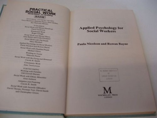 9780333340660: Applied Psychology for Social Workers (British Association of Social Workers (BASW) Practical Social Work)