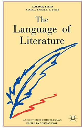 9780333340868: The Language of Literature (Casebook)