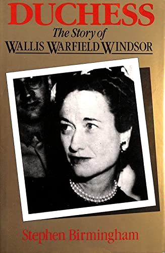 9780333342657: Duchess: Story of Wallis Warfield Windsor