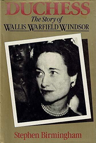 9780333342657: Duchess: the story of Wallis Warfield Windsor