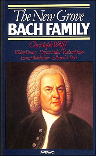 9780333343500: The New Grove Bach Family (New Grove Composer Biography )