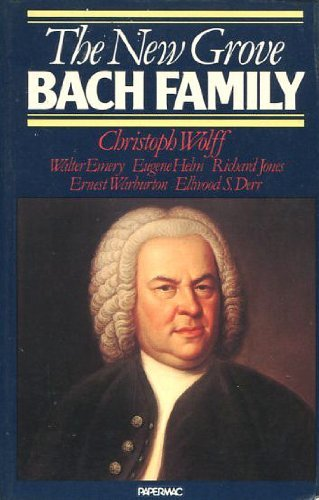 9780333343500: The New Grove Bach Family (New Grove Composer Biography)