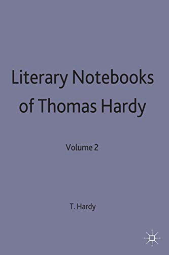 The Literary Notebooks of Thomas Hardy: Volume 2 (9780333346518) by Thomas Hardy; Lennart A Björk