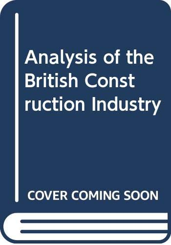 9780333346884: Analysis of the British Construction Industry