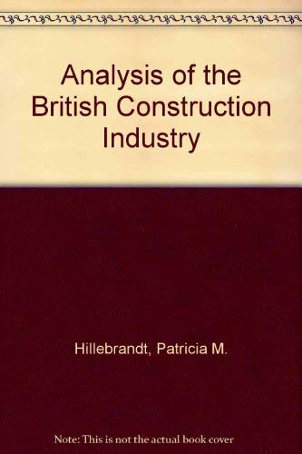 9780333346891: Analysis of the British Construction Industry