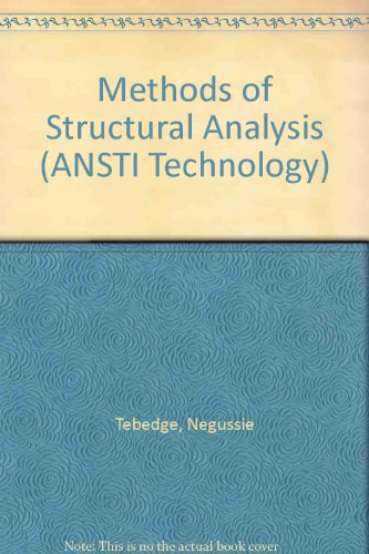 9780333352922: Methods of Structural Analysis (ANSTI Technology)