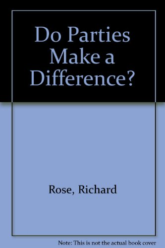 9780333353226: Do Parties Make a Difference?