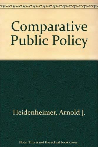 9780333353592: Comparative Public Policy