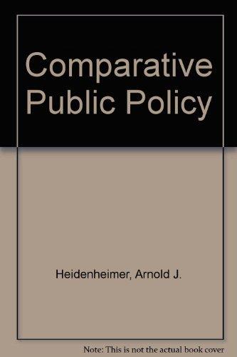 9780333353608: Comparative Public Policy