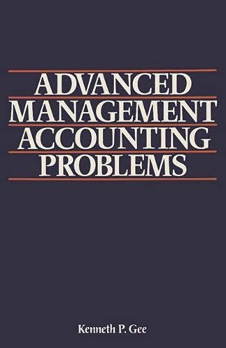 9780333362693: Advanced Management Accounting Problems