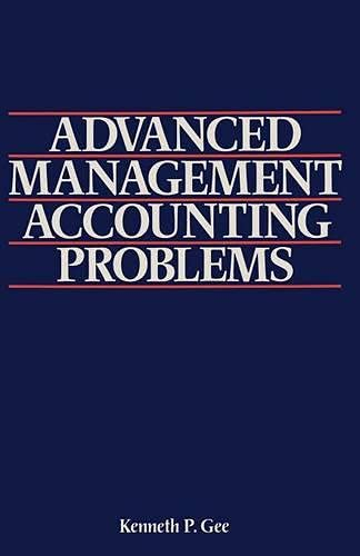 9780333362709: Advanced Management Accounting Problems