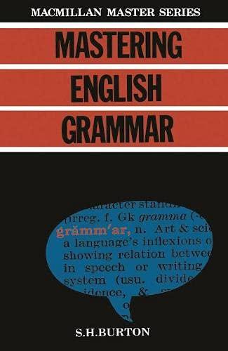 9780333363676: Mastering English Grammar (Macmillan modern Shakespeare)