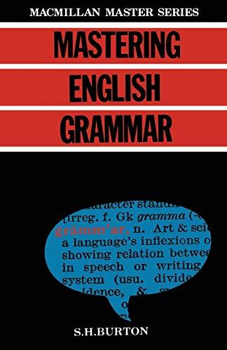 9780333363683: Mastering English Grammar (Palgrave Master Series)