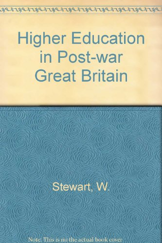 9780333363843: Higher Education in Post-war Great Britain