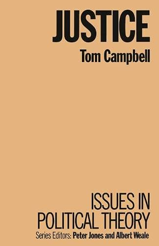 9780333367827: Justice: Issues in political theory