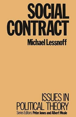9780333367919: Social Contract (Issues in political theory)