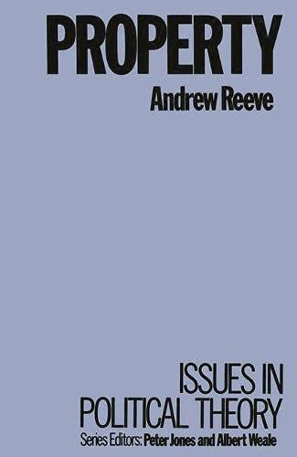 9780333367971: Property (Issues in political theory)