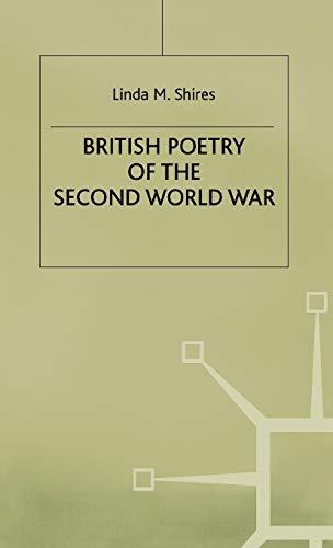 9780333369494: British Poetry of the Second World War (Studies in 20th Century Literature)