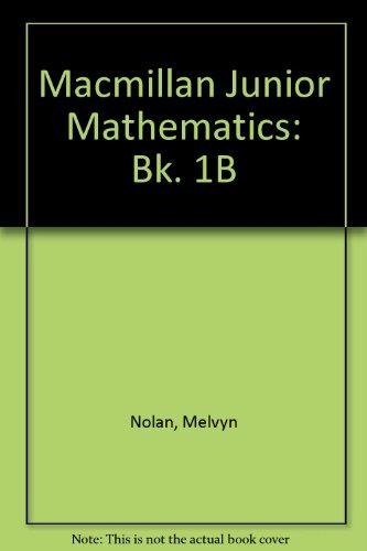 9780333369579: Macmillan Junior Mathematics: Bk. 1B