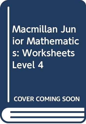 9780333369685: Macmillan Junior Mathematics: Worksheets Level 4