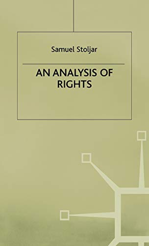 9780333371589: An Analysis of Rights
