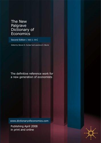 9780333372357: The New Palgrave Dictionary of Economics