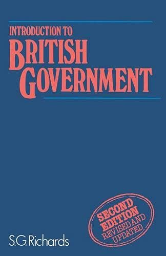 9780333372555: Introduction to British Government